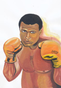 Cassius Clay Paintings - Mohammed Ali by Emmanuel Baliyanga
