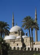 Alabaster Posters - Mohammed Ali Mosque In Citadel Of Cairo Poster by Axiom Photographic