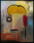 Abstract Expression Paintings - Mohawk Man by Snake Jagger