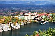 Inn Posters - Mohonk Mountain House Poster by June Marie Sobrito