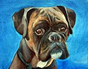 Boxer Painting Framed Prints - Moira Framed Print by Fiona Jack