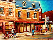 Old Montreal Art - Moishes The Place For Steaks by Carole Spandau
