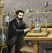 Electrolytic Photos - Moissan Isolating Fluorine, 1886 by Sheila Terry