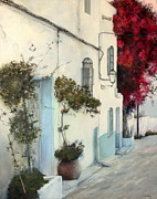 Andalucia Paintings - Mojacar by Tomas Castano