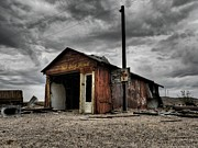 Shack Framed Prints - Mojave HDR 011 Framed Print by Lance Vaughn