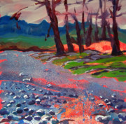 Riverbed Paintings - Molalla River Shore 7 by Pam Van Londen