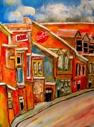 Kik Cola Paintings - Molasses and Beer District by Michael Litvack