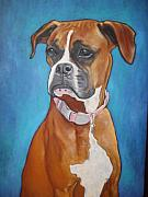 Boxer Paintings - Mollie by Jennifer Uher