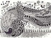 Pen And Ink Drawing Drawings - Molluska by Erneil Jeoffrey Nanola