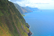 Aerials Framed Prints - Molokai Hawaii Coast line  Framed Print by Christopher  Ward