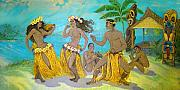 Murals Posters - Molokai Hula 3 Poster by James Temple