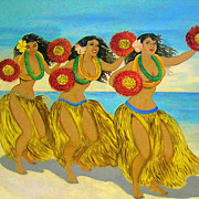 Hula Prints - Molokai Hula Print by James Temple