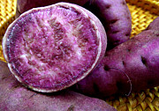 Hawaiian Food Photos - Molokai Purple Sweet Potatoes by James Temple