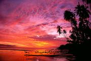 Sunsets Rainbows Clouds - Molokai, Tropical Sunset by John Hyde - Printscapes