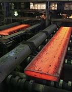 Molten Metal Bars Print by Ria Novosti