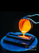 Manage Posters - Molten Nuclear Waste Glass Poured Poster by U.S. Department of Energy