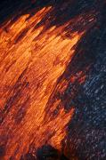 Pour Framed Prints - Molten Pahoehoe Lava Framed Print by Ron Dahlquist - Printscapes