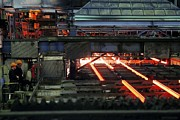 Production Photos - Molten Steel Bars by Ria Novosti