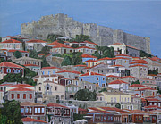 Ellenisworkshop Paintings - Molyvos II by Eric Kempson