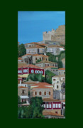 Acrylic On Canvas - Molyvos One Of Three by Eric Kempson
