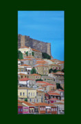 Acrylic On Canvas - Molyvos Three Of Three by Eric Kempson
