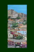 Acrylic On Canvas - Molyvos Two Of Three by Eric Kempson