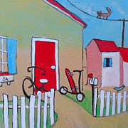 Family Love Painting Originals - Mom Is Home by Jon Adams