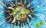 Mom There Is A Turtle In The Swimming Pool II Print by Anne-Elizabeth Whiteway