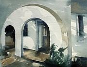Stephanie Aarons Painting Metal Prints - Mombasa Archway Metal Print by Stephanie Aarons