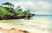 Stephanie Aarons Painting Metal Prints - Mombasa Beach Metal Print by Stephanie Aarons