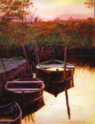 Featured Paintings - Moment at Sunrise by David Lloyd Glover