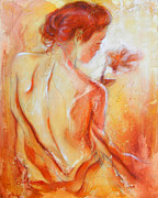 Beautiful Woman Mixed Media - Moment by Juan Jose Espinoza