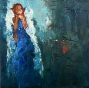 Angel Paintings - Moment of Quietude by Judy Mackey