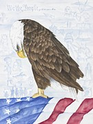Eagle Paintings - Moment of Silence by Lisa  Marsing