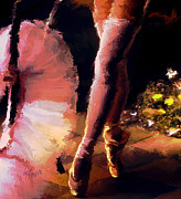 Stockings Painting Prints - Moments Print by Robert Smith