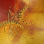 Lyrical Mixed Media - Momentum II by Lorraine Lawson