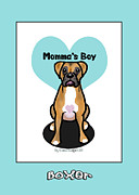 Catia Mixed Media Framed Prints - Momma s Boy Framed Print by Catia Cho