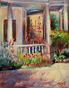 Plein Air Art - Mommas Porch     plein air by Marie Massey