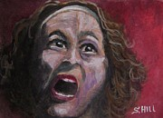 Joan Crawford Paintings - Mommie Dearest by S Hill