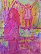 Ignored Painting Prints - Mommy PPLLEASEE Look Print by Judith Redman