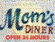 Moms Diner Food Mosaic Print by Paul Van Scott