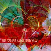 Respect Mixed Media Posters - Mon Coeur - My Heart Poster by Fania Simon