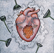 Heart Art Posters - Mon Coeur- Where the Honeybees Live Poster by Sheri Howe