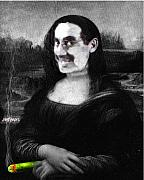 Groucho Marx Digital Art - Mona Grouchironi by Seth Weaver