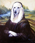 Poodle Paintings - Mona Leasha by Pat Burns