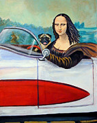 Corvette Paintings - Mona Likes to Cut Loose on Weekends by Lyn Cook