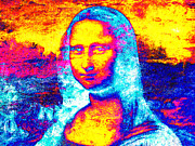 Unique Art Prints - Mona Lisa Print by Juan Jose Espinoza