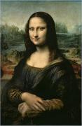 Female Portrait Paintings - Mona Lisa by Leonardo da Vinci
