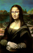 Famous Pastels Metal Prints - Mona Lisa my version Metal Print by Elisabeth Dubois