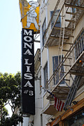 Italian Restaurant Photo Posters - Mona Lisa Restaurant in North Beach San Francisco Poster by Wingsdomain Art and Photography